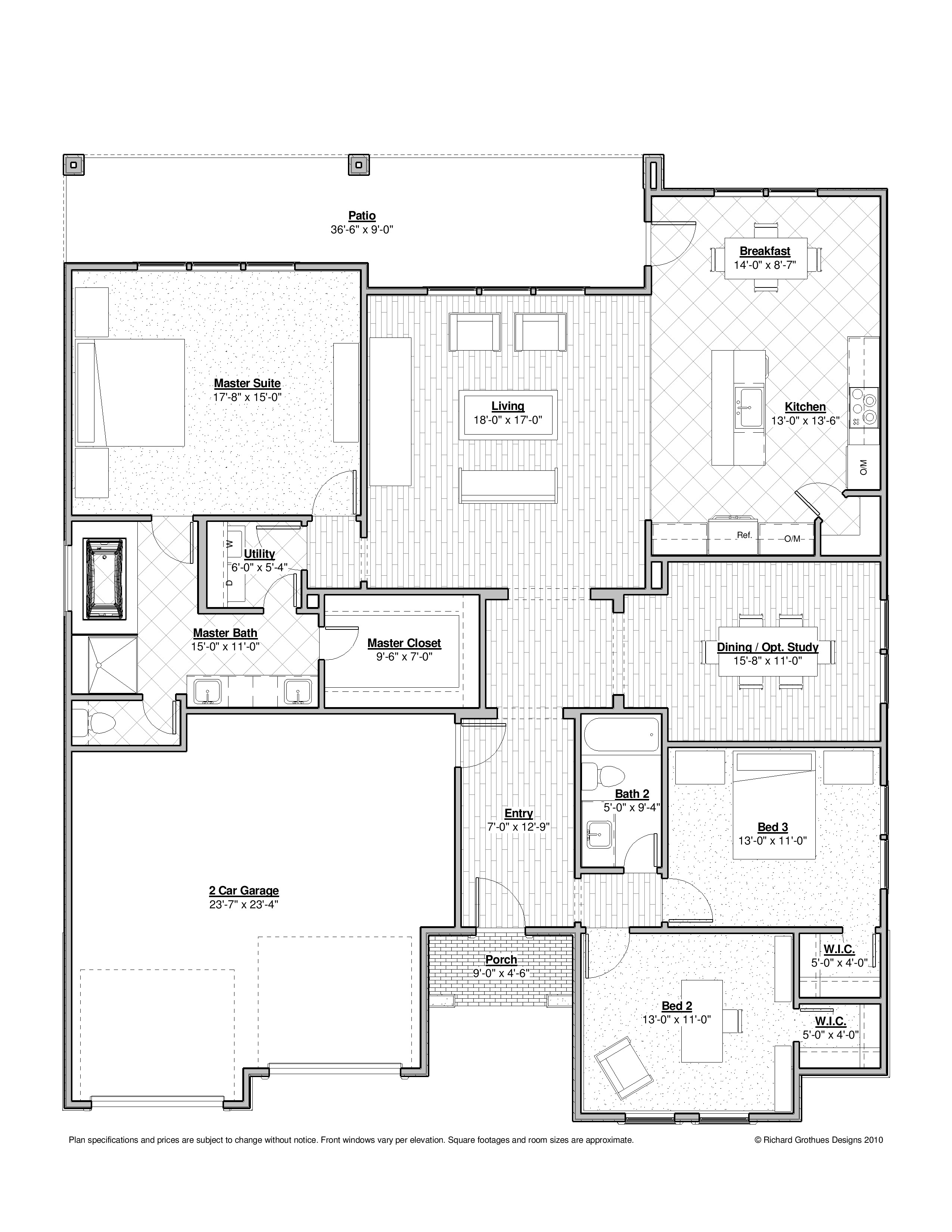 100 bed and breakfast floor plans new orleans for Drake homes inc