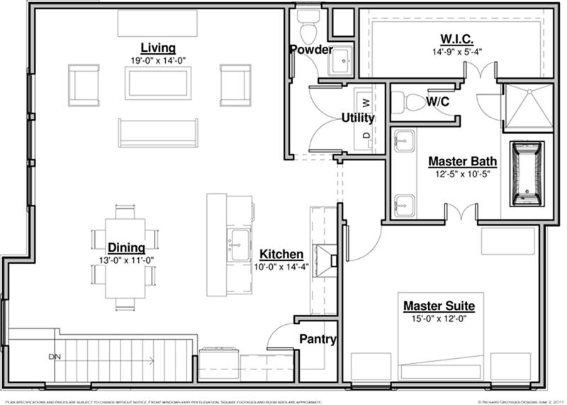 Floor plans for single family homes for Single family home blueprints