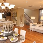 Orleans Squre: living-dining-kitchen-stairs